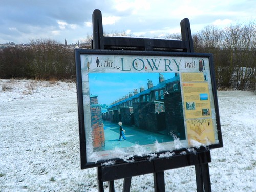 Back Street Plaque on Lowry Trail in Berwick upon Tweed