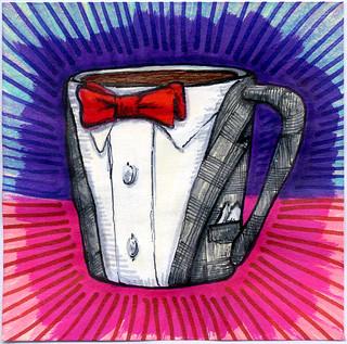 I drew you a Pee-wee Herman Suit Mug of Coffee