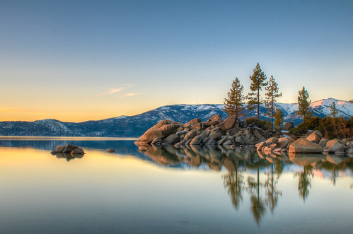 california statepark longexposure sunset reflection reflections day nevada laketahoe tokina clear nv bayarea lightroom inclinevillage statebeach sandharbor 2470f28 northlaketahoe lr4 nd18 flickr10 6stopnd d7000 bw77mm