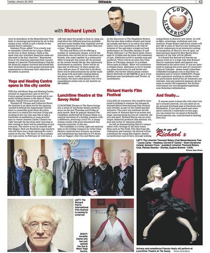 Limerick Chronicle Column 22 Jan 2013