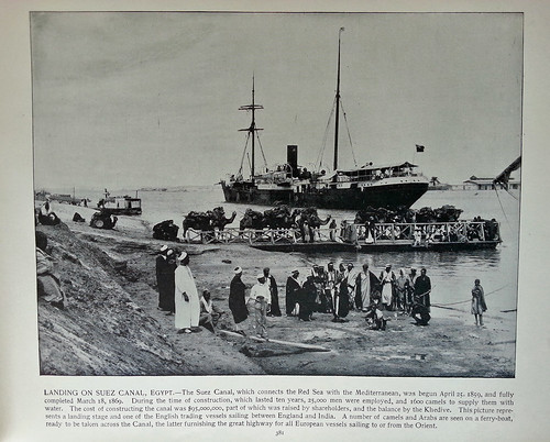 "Suez from the book ""Around the World in 80 Days"" by Jules Verne"