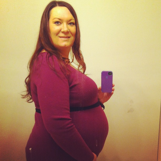 28 weeks along! Baby weighs about 2 1/2 lbs and my net gain is 3 lbs. I have a feeling he is going to be a big boy!