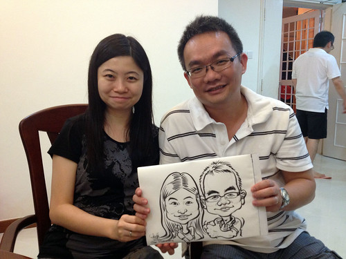 caricature live sketching for birthday party 14072012 - 8