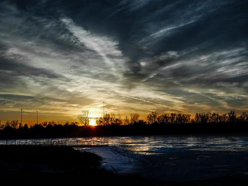 winter sunset nebraska unitedstates crystalcove southsiouxcity