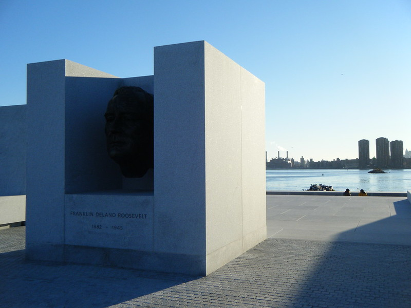 FDR's head in Four Freedoms Park
