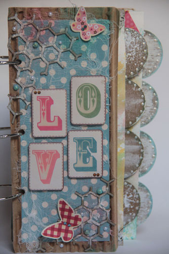 """Love"" Mixed Media Album a"