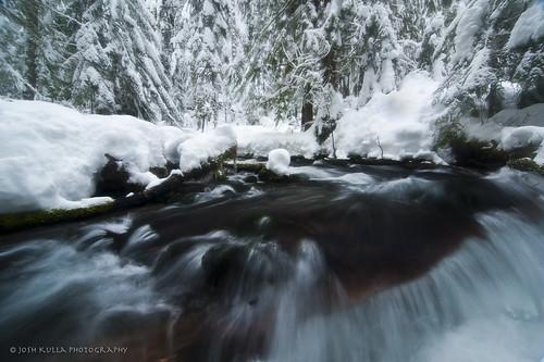longexposure winter snow water oregon creek river stream mthood zigzagriver mthoodnationalforest joshkulla oregonlandscapephotographers joshkullaphotography