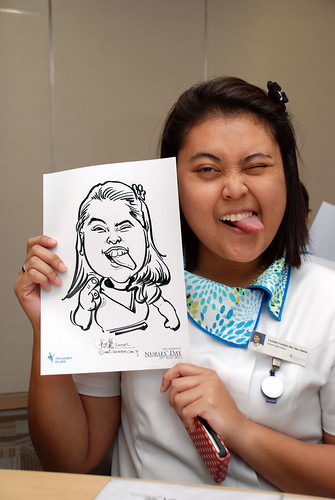 caricature live sketching for Khoo Teck Puat Hospital, Nurses' Day - 12