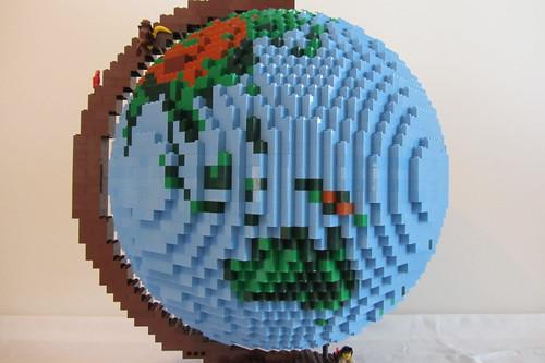dirks LEGO globe - closeup 06 australia