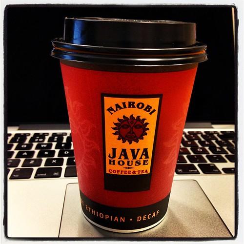 Tänk vad lite finkaffe kan förgylla morgonen :)