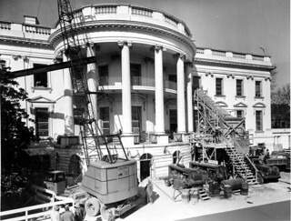 Removing Debris from the Renovation of the White House, 02/27/1950