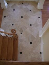 Porcelain and granite floor
