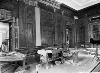 Northeast View of the State Dining Room during the White House Renovation, 11/21/1951