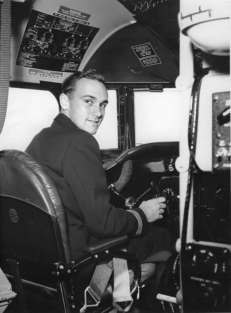 Byron Cramblet - Scandinavian Airlines (SAS) DC4 Cockpit