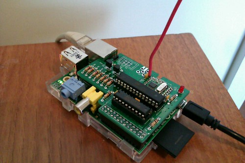 RFM12B and Atmel ISP programmer shield for Raspberry Pi
