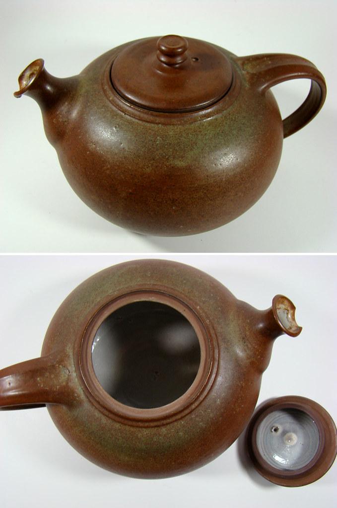 kanne studiokeramik signiert teekanne bauhaus tea pot german modern pottery. Black Bedroom Furniture Sets. Home Design Ideas