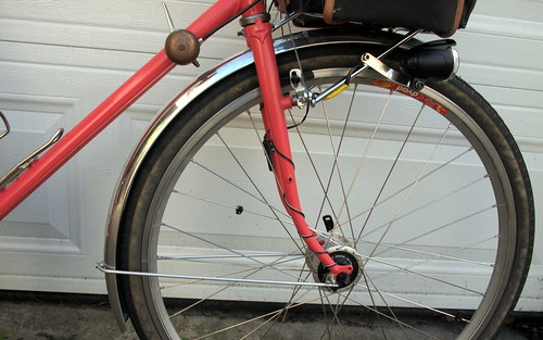 Front wheel fender line