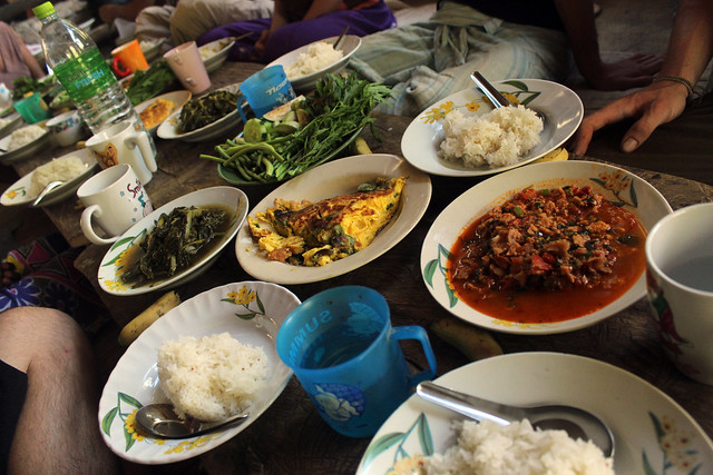 Traditional Lanna food in Thailand