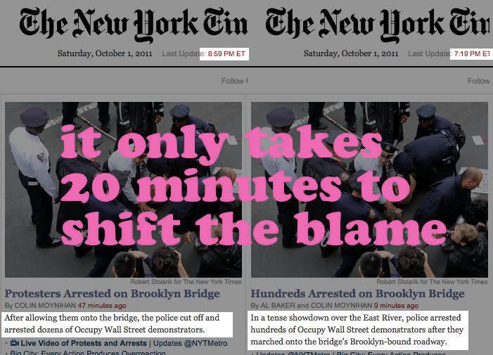 OWS NYTimes Lie