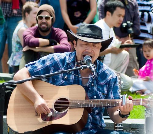 George performing