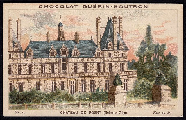 French Tradecard - Chateau de Rosny