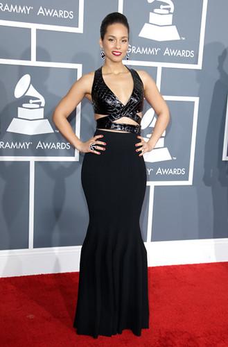 Alicia Keys. Premios Grammy, versión 55, febrero 10 de 2013, Staples Center, Los Angeles, California, Estados Unidos. Foto cortesía Canal TNT.
