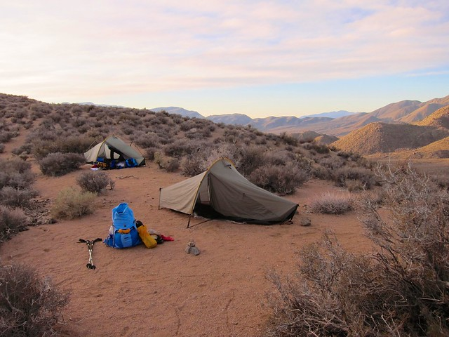Campsite on the Pass at Sunrise