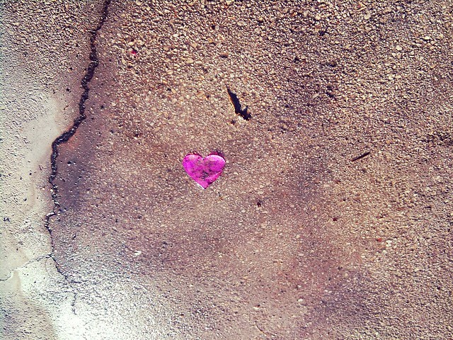 Heart on the pavement