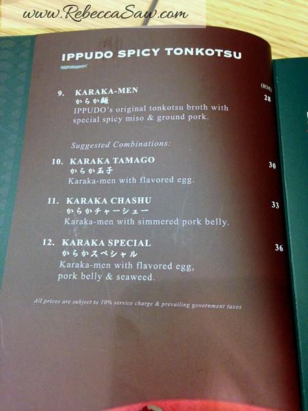 Ippudo Ramen Malaysia - Pavilion Kuala Lumpur-menu-002