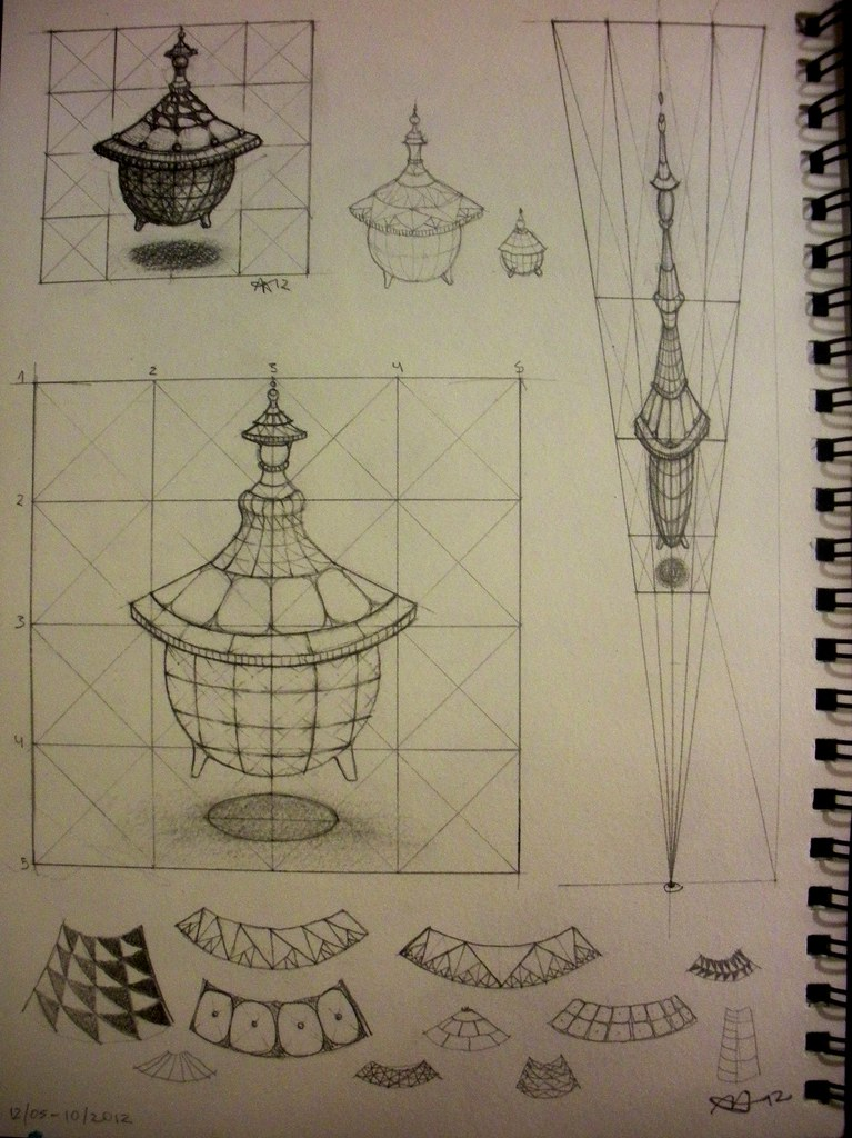 Anamorphic Vessel sketches