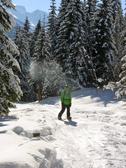 Garry on a winterwanderweg