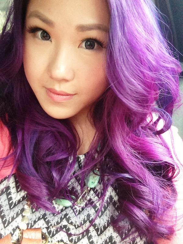 Eggplant Purple Hair I normally like curly hair on