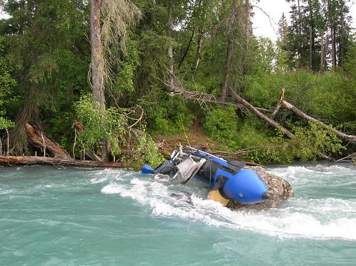 capsized boat Russian River
