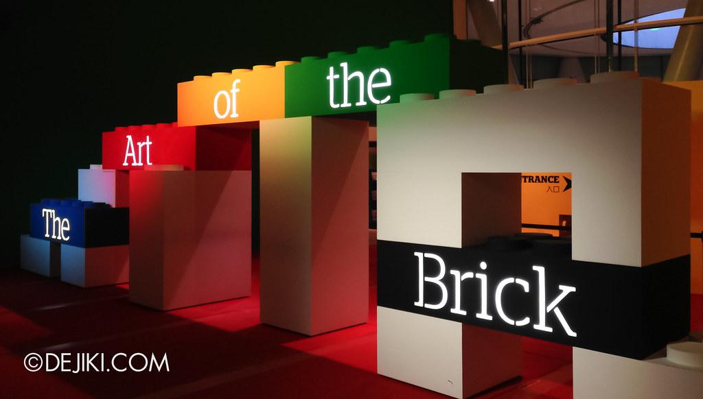 Art of The Brick - Entrance