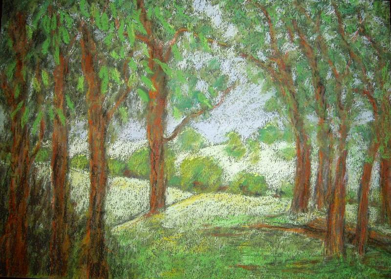Landscape pastel painting