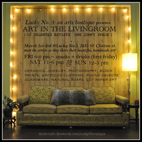 Art In The Living Room @ Lucky No. 3