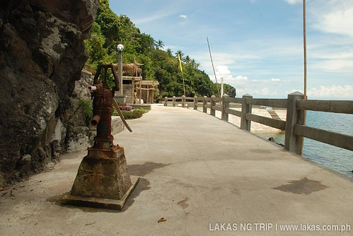 Artesian Well in the middle of the road in Banton Island, Romblon