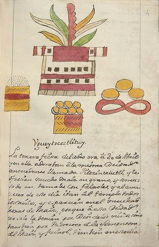 004-Tercera fiesta Vgueytocoztlituy-Códice Veitia- Biblioteca Virtual Miguel de Cervantes