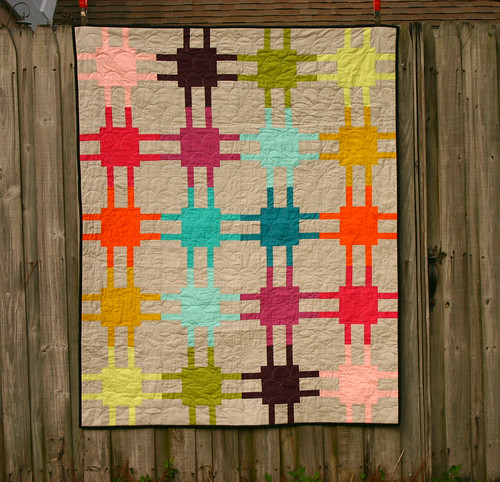 Modern Circuitry quilt - on display at QuiltCon