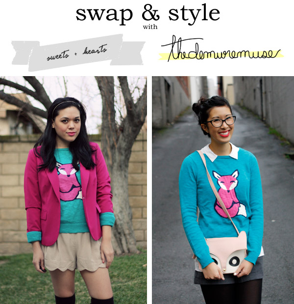 swap & style fox sweater