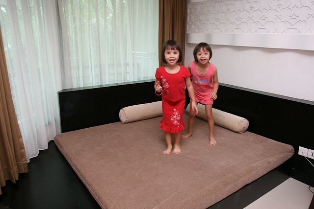 The kids obviously loved the platform bed