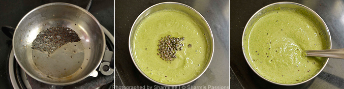 How to make curry leaves chutney - Step3