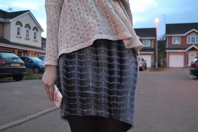 daisybutter - UK Style and Fashion Blog: what i wore, SS13, jersey midi dress, jumper and dress, british style, glamorous uk