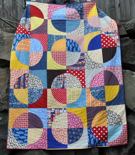 finished circle quilt