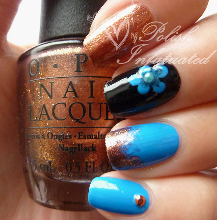 blue and copper skittle