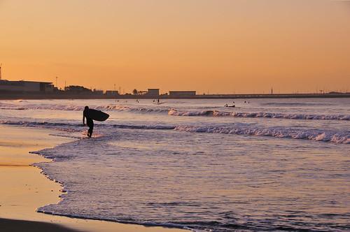 beach sunrise surf surfer kanagawa shonan kugenuma