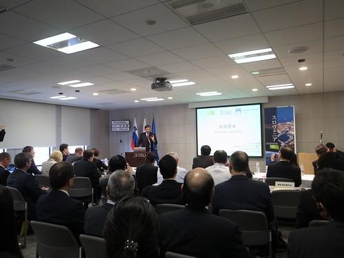スロヴェニア共和国ボルト・パホル大統領 JETROセミナーにて