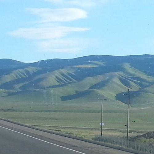 Pretty rolling green hills. Normally when we drive through they are golden. Gotta love spring.