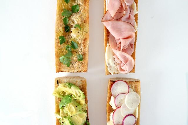on toast: baguette