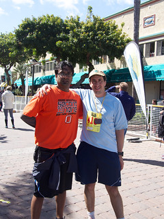 With Vinay after the run